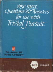 1650 more Questions & Answers for use with Trivial Pursuit: Set I, Group III