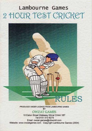 2 Hour Test Cricket