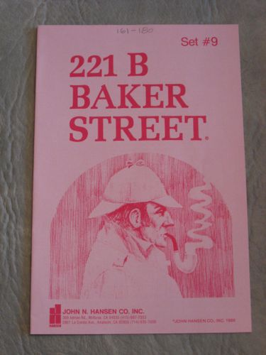 221b Baker Street: The Master Detective Game – Set #9