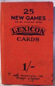 25 New Games to be Played with Lexicon Cards
