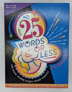 25 Words or Less: People, Places and Things Edition