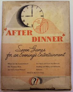 After Dinner: Seven Games for an Evening's Entertainment