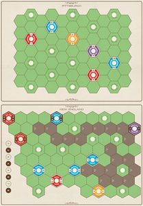 Age of Steam Deluxe Expansion: New England/Pittsburgh & Switzerland Maps