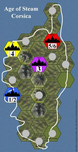 Age of Steam Expansion: Corsica