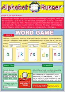 Alphabet Runner Cards