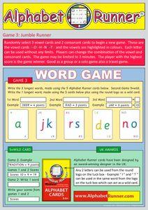 Alphabet Runner Cards