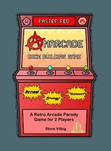 Anarcade Deck Building Game: Raster Red