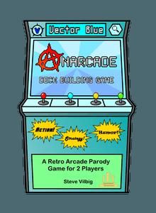 Anarcade Deck Building Game: Vector Blue