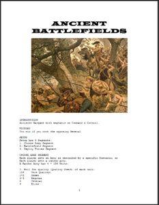 Ancient Battlefields
