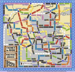Ancient Greece (fan expansion for Ticket to Ride)