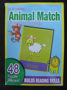 Animal Match Puzzle Cards