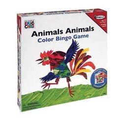 Animals Animals Color Bingo Game