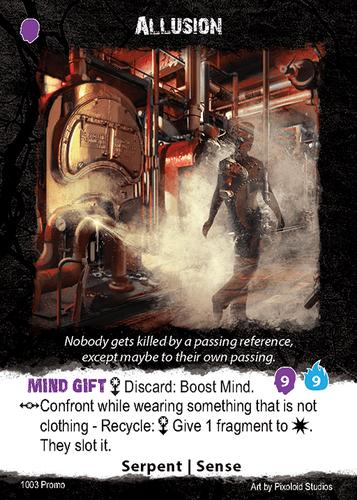 Apocrypha Adventure Card Game: Allusion Promo Card