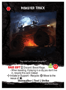 Apocrypha Adventure Card Game: Monster Truck Promo Card