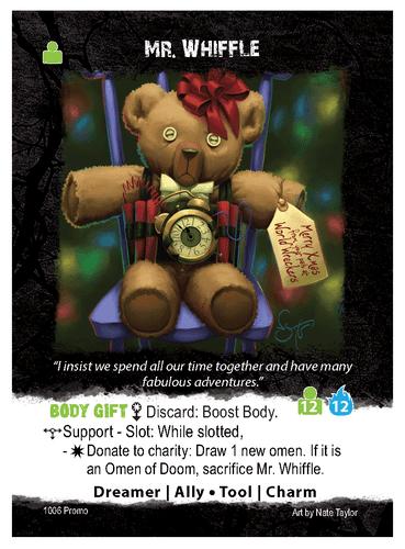 Apocrypha Adventure Card Game: Mr. Whiffle Promo Card