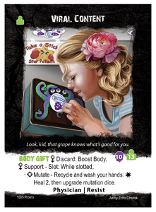 Apocrypha Adventure Card Game: Viral Content Promo Card