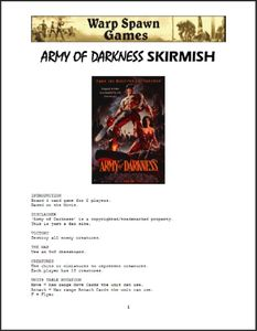 Army of Darkness Skirmish