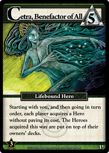 Ascension: Cetra, Benefactor of All Promo Card
