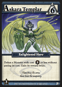 Ascension: Delirium – Askara Templar Promo Card