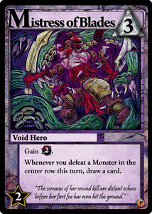 Ascension: Rise of Vigil – Mistress of Blades Promo Card