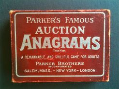 Auction Anagrams