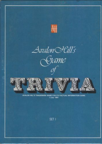 Avalon Hill Game Company's Game of Trivia
