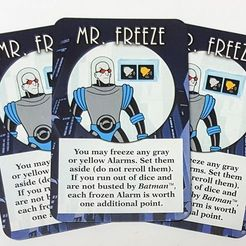 Batman: The Animated Series Dice Game – Mr. Freeze Promo Card