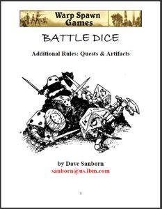 Battle Dice: Quests & Artifacts