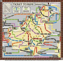 Borneo (fan expansion to Ticket to Ride)