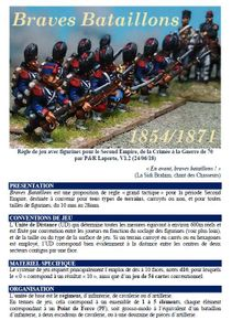 Braves Bataillons: règle Second Empire