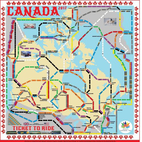 Canada 2017 (fan expansion of Ticket to Ride)