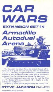 Car Wars Expansion Set #4, Armadillo Autoduel Arena