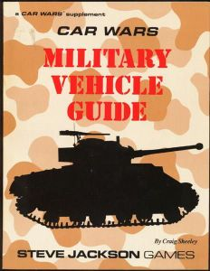 Car Wars Supplement, Military Vehicle Guide