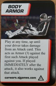 Car Wars: The Card Game – Body Armor Promo Card