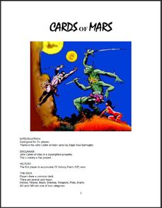 Cards of Mars