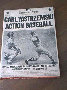 Carl Yastrzemski Action Baseball