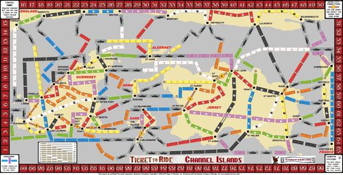 Channel Islands (fan expansion to Ticket to Ride) Board Game