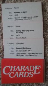 Charade Cards