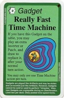 Chrononauts: Really Fast Time Machine Promo Card