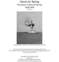 Classic Air Racing: Thompson Trophy Air Racing 1930-1939