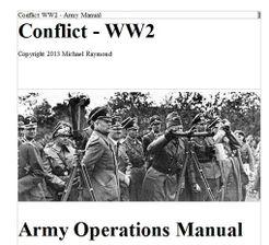 Conflict WW2