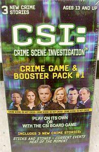 CSI: Crime Scene Investigation Boardgame – Crime Game & Booster Pack #1