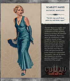 Cthulhu: Death May Die – Scarlett Hayes