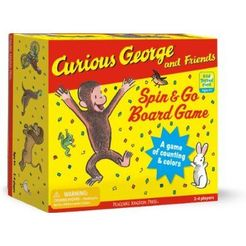 Curious George and Friends Spin & Go Board Game