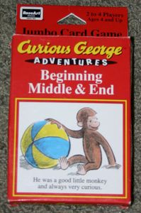 Curious George Beginning Middle & End: card game