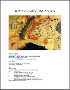 Dark Sun Empires