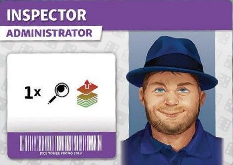Dice Hospital: Inspector Administrator Promo Card