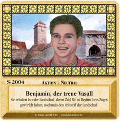 Die Siedler von Catan: Das Kartenspiel – Sonderkarte 2004 – Benjamin, der treue Vasall