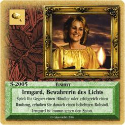 Die Siedler von Catan: Das Kartenspiel – Sonderkarte 2005 – Irmgard, Bewahrerin des Lichts