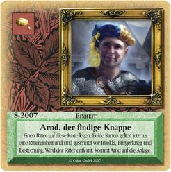 Die Siedler von Catan: Das Kartenspiel – Sonderkarte 2007 – Arnd, der findige Knappe